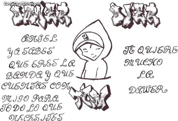 Dibujos de letras en graffiti  Imagui